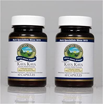 Naturessunshine Kava Kava Concentrate Nervous System Support Herbal Dietary Supplement 60 Capsules (Pack of 2)