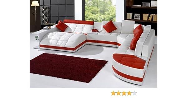 Amazoncom Tosh Furniture Miami Contemporary Sectional Sofa