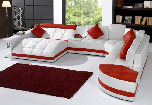 Tosh Furniture Miami Contemporary Sectional -