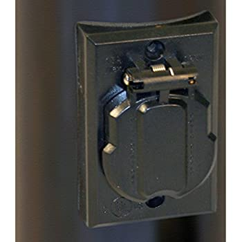 Solo Lights Electrical Outlet for Outdoor Lamp Post and Poles  Convenience  Grounded Replacement Hardwire Plug AccessoryAmazon com   Acclaim 338BK Convenience Electrical Outlet Accessory  . Outdoor Light Pole Electrical Outlet. Home Design Ideas