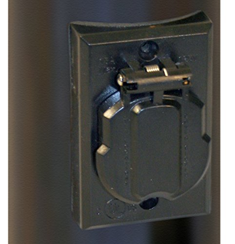 Solo Lights Electrical Outlet For Outdoor Lamp Post And Poles Convenience Grounded Replacement