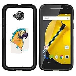 Stuss Case / Funda Carcasa protectora - Pintura colorida del loro del Macaw - Motorola Moto E2 E2nd Gen