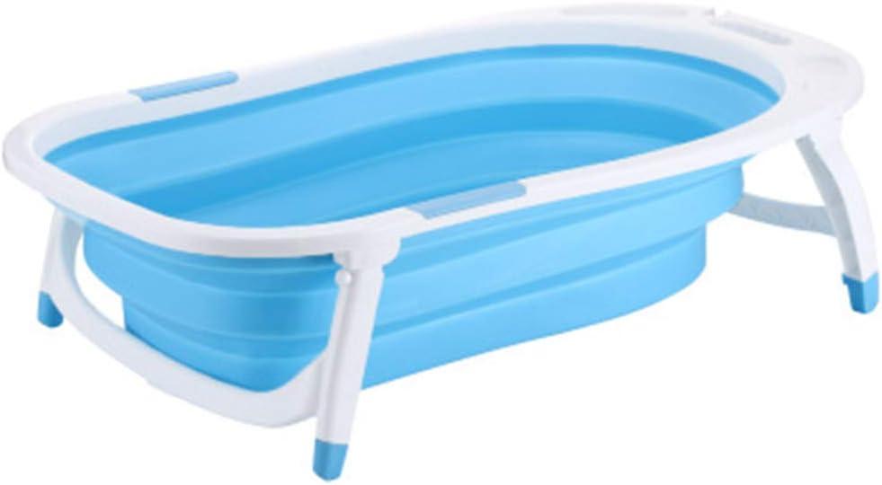 NBLYW Baignoires pour bébé Pliables Baignoires pour Enfants Bassin de Douche antidérapant Pliant portatif avec détection de température pour Nourrissons,Blue