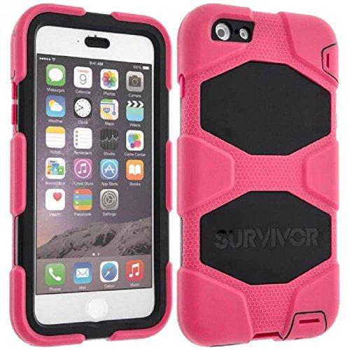 Pink/Black Survivor All-Terrain Case + Belt Clip for iPhone 6 Plus/6s Plus