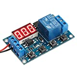 DROK Digital LED Display 12V On/Off Time Delay Relay Module 12 Volt Timer Relay Switch Board External Trigger Automotive Relay