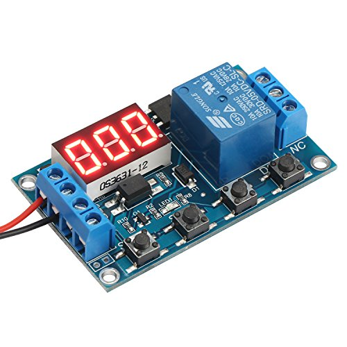 DROK Digital LED Display 12V On/Off Time Delay Relay Modu...