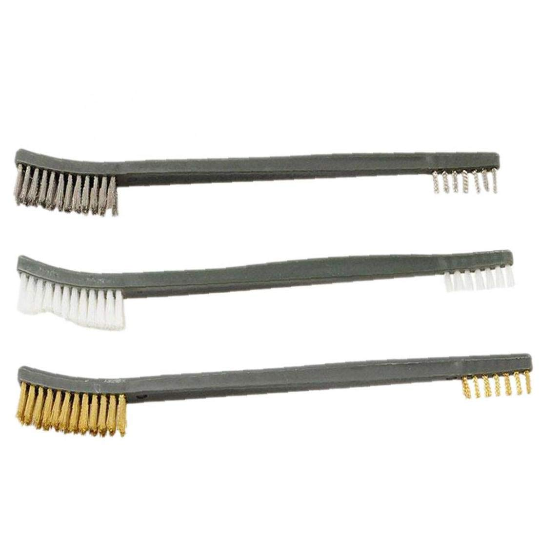 3 Pcs Mini Sistema De Cepillo De Alambre De Acero Lat/ón Pulido De Limpieza De Nylon Detalle Metal Moho Cepillo Escalada Senderismo Multifuncional Cepillo De Limpieza