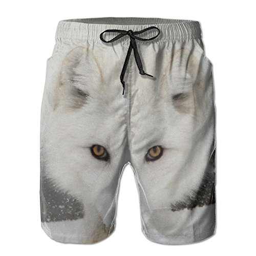 NUNOFOG Winter Fox Men's Swim Boardshorts Quick-Dry Surf Beach Shorts Casual Sport Trunks Shorts Beach Pants With Pocket
