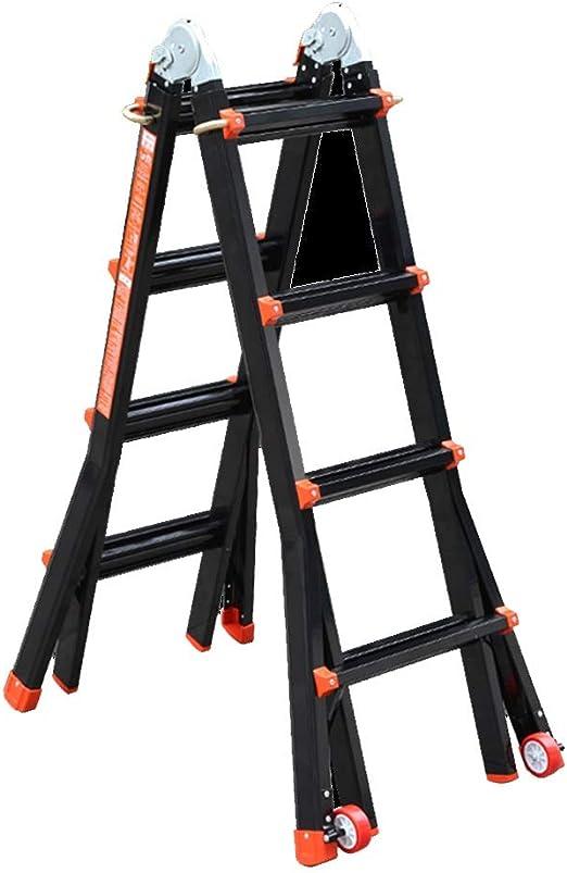 ZR- Escalera Profesional Ajustable: se Utiliza Como Escalera Tijera, Escalera Extensión, Escalera Extensión Con Separación -Fácil de almacenar y fácil de llevar: Amazon.es: Hogar