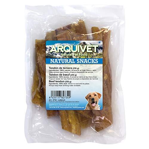 Arquivet Snack para perros de tendón de ternera – Snacks naturales para perro – Chuches para perro – Golosinas para…