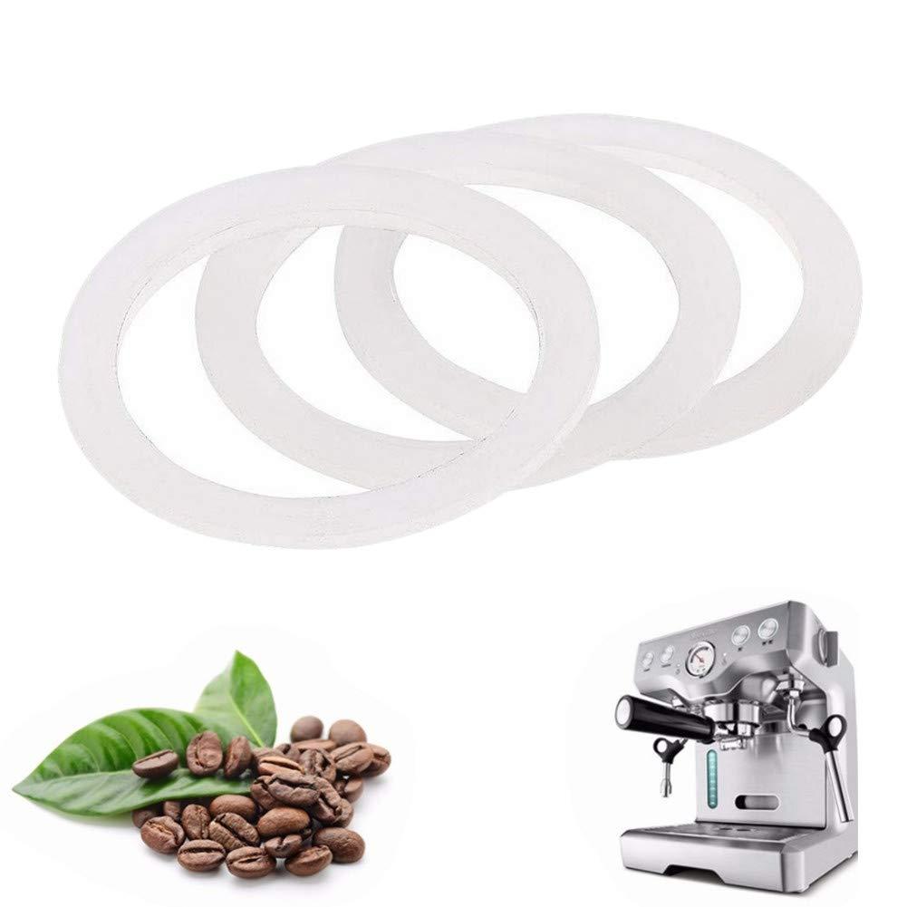 3,7cm milopon Junta de silicona para cafetera Tetera Junta Junta de repuesto para 2/Taza Espresso el/éctrica Moca jarras 3.7/cm Inner mediante Feria