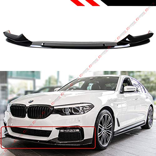 - Fits Perofrmance Style Glossy Black Front Bumper Lip Spoiler Splitter Kit Fits for 2017-2019 BMW G30 530i 540i M550i W/M Sport Bumper