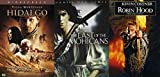 Old-Fashioned Saga Robin Hood Prince of Thieves + Last of the Mohicans & Hildago Collection 3 Film Action and Adventure DVD Movie Pack Bundle