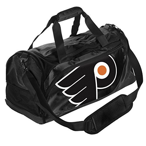 NHL Philadelphia Flyers Locker Room Collection Duffle Bag, Small, Black by Forever Collectibles