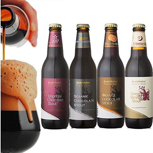 【チョコビール4種4本セット】 インペリアルチョコレートスタウト、セサミチョコレートスタウト、オレンジチョコレートスタウト、スイートバニラスタウト (各1本入) <専用ロゴ入ブラックBOX入>