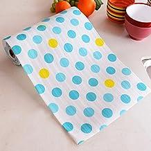 "Spritech(TM) Non-slip Dot Design Pad Printing Antibacterial Ambry of Household Kitchen Drawer Mat Paper Waterproof Dampproof Mat Wardrobe Drawer 11.7""10Feet Blue"