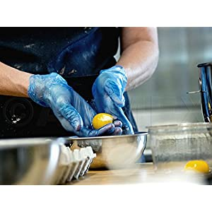 AMMEX GlovePlus Blue Vinyl Disposable Gloves - food prep 2