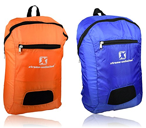 Xtreme-Unlimited Ultra Lightweight Foldable Backpack | Durable & Compact Travel Bag For Hiking, Cycling & Camping | Heavy Duty Zipper & Spacious Compartment | Comfortable & Packable Daypacks