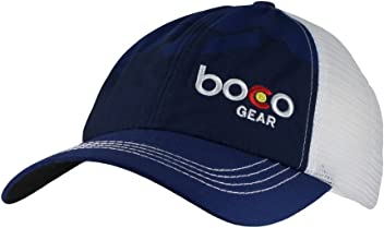 BOCO Gear Technical Trucker Hat (Not Structured) - Navy Mountains 4a673ef24cc