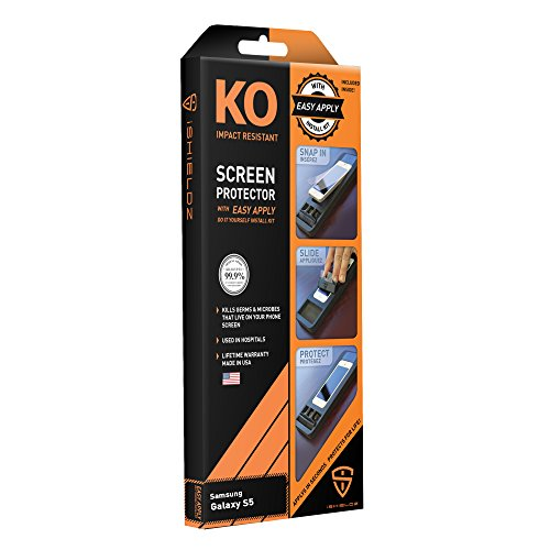 iShieldz KO Impact Resistant Screen Protector with Easy Apply for Samsung Galaxy S5 - Retail Packaging - Clear