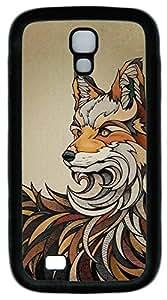 Galaxy S4 Case, Personalized Custom Soft TPU Black Edge Fox Case Cover for Samsung Galaxy S4 I9500