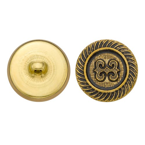 C&C Metal Products 5170 Rope Knot Metal Button, Size 36 Ligne, Antique Gold, 36-Pack by C&C Metal Products Corp