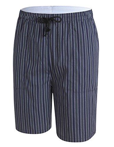 PAUL JONES Men's Cotton Navy & White Stripe Pajama & Sleep for Summer (Waist Stripe Short)