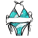 Most Fashion Maker Ladies Dolphin Sea Waves Printing Summer Sexy Two Pieces Beachwear