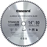 Concord Blades ACB1400T080HP 14-Inch 80 Teeth TCT Non-Ferrous Metal Saw Blade