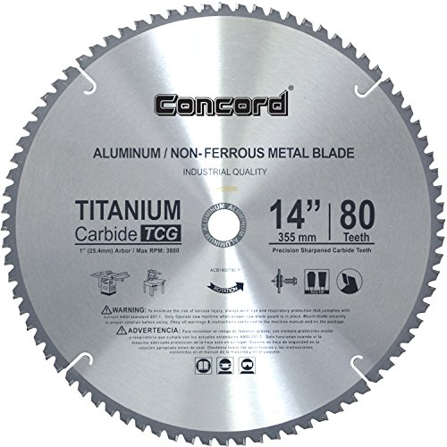 Concord Blades ACB1400T080HP 14-Inch 80 Teeth TCT Non-Ferrous Metal Saw ()
