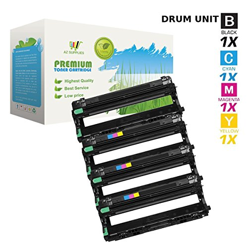 AZ Compatible with Brother DR221 (DR221BK, DR221C, DR221M, DR221Y) 4 Color Set Drum for HL-3140, HL-3140CW, HL-3170, HL-3170CDW, MFC-9130, MFC-9130CW, MFC-9330, MFC-9330-CDW, MFC-9340, MFC-9340CDW
