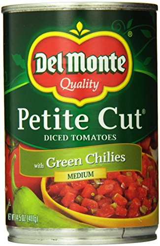 Del Monte Diced Tomatoes with Chiles, 14.5 Ounce