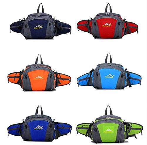 5 All Sling-Rucksack Sling Bag Chest Pack Taschen HANDY Tasche Outdoor Sports Camouflage Trekkingrucksack als Radfahr Jogging-Rucksack Kettle Paket Orange F
