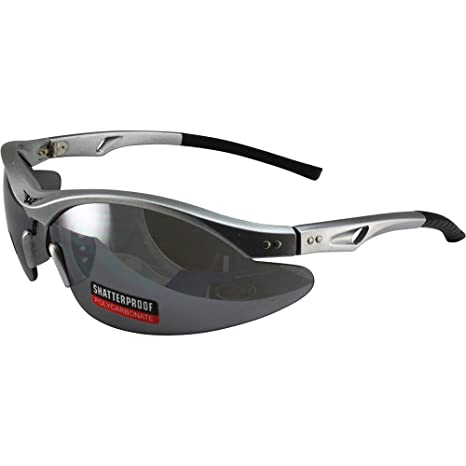 7ac668d739 Amazon.com  Global Vision Slayer Motorcycle Sunglasses Silver Frames Flash  Mirror Lens  Home Improvement