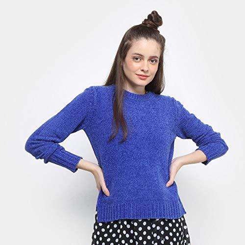 Tricô Drezzup Chenile Feminino - Azul - Gg