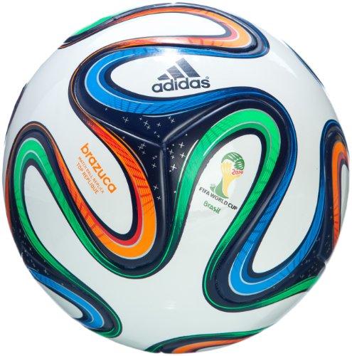 adidas Fußball Brazuca Top Replique, White/Night Blue/Multicolor, 5, G73622