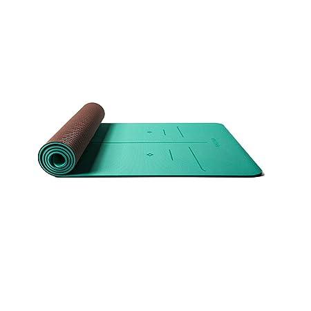 LWBUKK Engrosamiento de TPE ensanchado Estera de Yoga ...