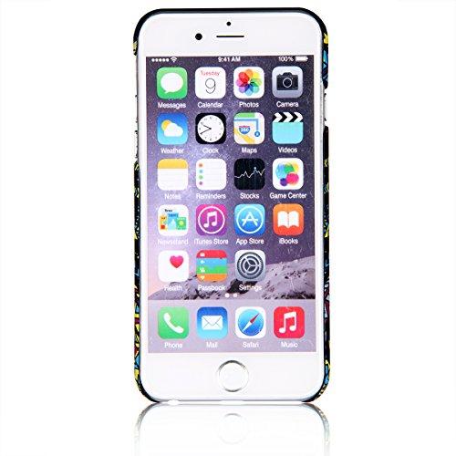 "JewelryWe Cartoon gemalt Jackal Schakal König Handy Case Schutzhülle Tasche Hülle Rückenschutzhülle Etui für Apple iPhone 6(4,7""), Mehrfarbig"