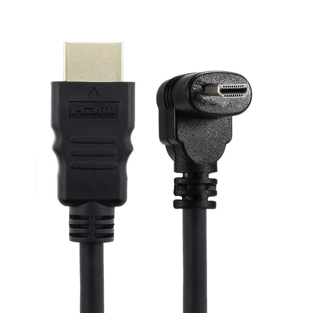 Cable HDMI a HDMI Macho HDTV en /ángulo de 90 Grados para tel/éfono Celular y Tableta y c/ámara Up /& Down