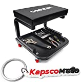 Biltek Creeper Seat Mechanics Rolling Work Stool Chair Auto Work Shop Garage Gear Tray + KapscoMoto Keychain