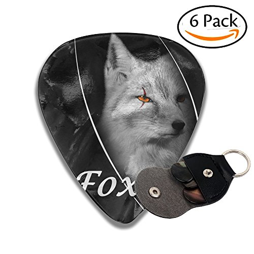 C-Emily Fox 351 Shape Classic Guitar Picks (6 Pack) For Electric Guitar, Acoustic Guitar, Mandolin, And Bass (Thin, Medium, Heavy) 351 Classic Rock
