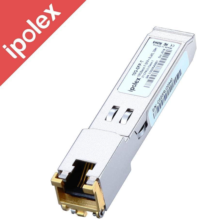 10G SFP+ RJ45 Copper Transceiver, 10GBase-T Module for Cisco SFP-10G-T-S, Ubiquiti, D- Link, Supermicro, Netgear, Mikrotik (Cat6a/7, 30-Meter)