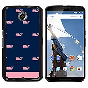 For Motorola NEXUS 6 / Moto X / Moto X Pro , S-type® Pattern Blue Pink Minimalist Clean - Arte & diseño plástico duro Fundas Cover Cubre Hard Case Cover