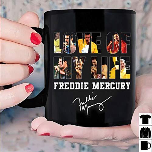 (Freddie Mercury Love Of My Life Signature Mug Black Ceramic 11oz Coffee Tea Cup)