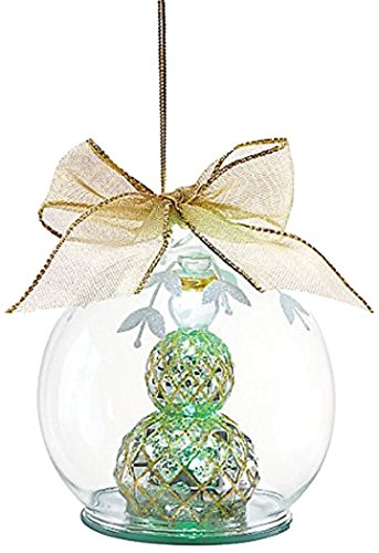 Lenox Mercury Glass Ornament, Snowman (Ornament Snowman Mercury Glass)