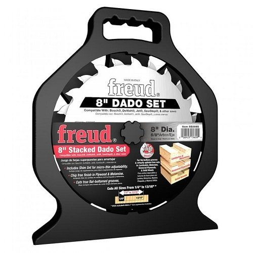 Freud SD208 8-Inch Professional Dado (Discontinued) 8' Stacked Dado Set