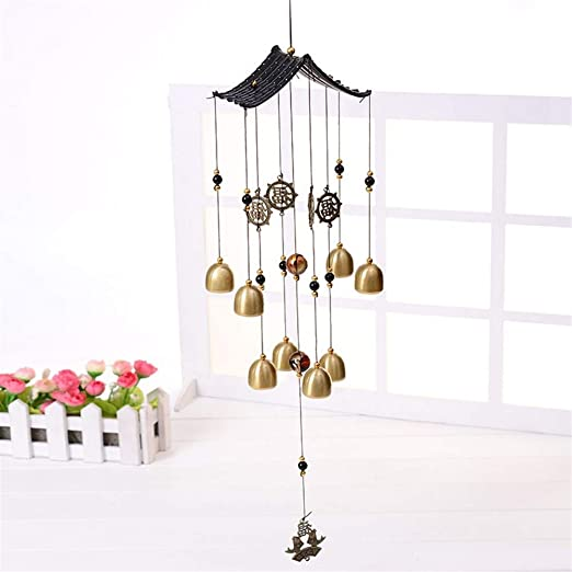 Metal Wind Chimes Hanging Pendant Bells Music Gift Crafts Pendant Wind Chime 6T