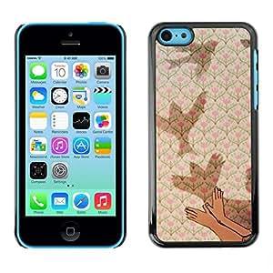 FECELL CITY // Duro Aluminio Pegatina PC Caso decorativo Funda Carcasa de Protección para Apple Iphone 5C // Meaning Deep Metaphor Kid Child