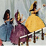"""WEDDING BRIDESMAID DOLL ~ A Vintage 1951 Dress Crochet Pattern for Duchess Dolls (or other 7""""-8"""" doll)"""