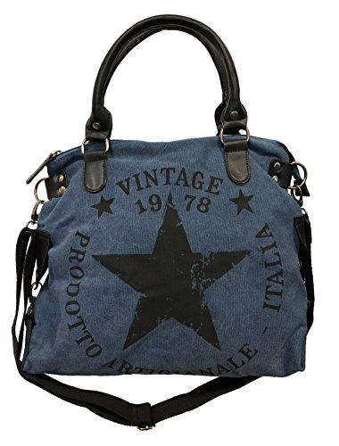 Shopper Stamp James nbsp;star Bag nbsp; Vintage Fashion Estrella Tyle26 Mujer aZ4F8